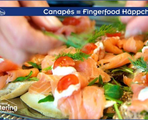 Canapés Fingerfood Häppchen von Catering Straubing