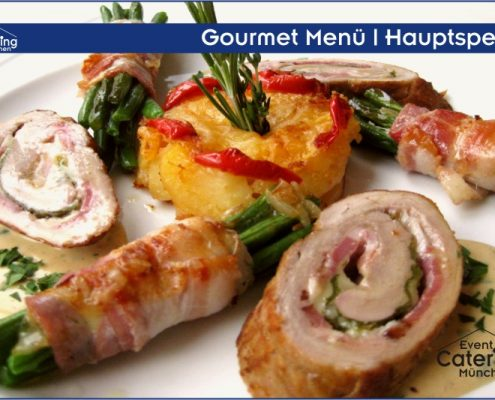 Gourmet Menü Hauptspeise Catering Straubing