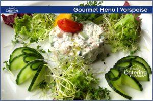 Gourmet Menü Vorspeise Catering Straubing